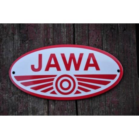 Smaltovaná cedulka JAWA Pionýr