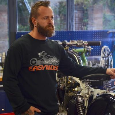 Pánské motorkářské tričko NIGHT ROAD