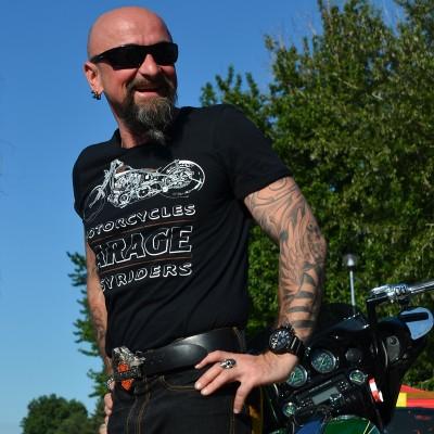 Pánské motorkářské tričko GARAGE MOTORCYCLES