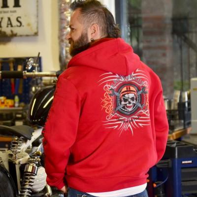 Motorkářská mikina pánská LEBKA