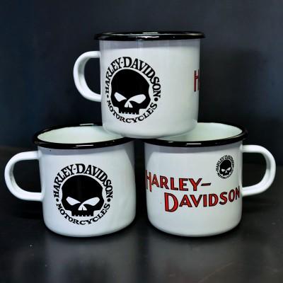 Smaltovaný hrnek HARLEY-DAVIDSON LEBKA